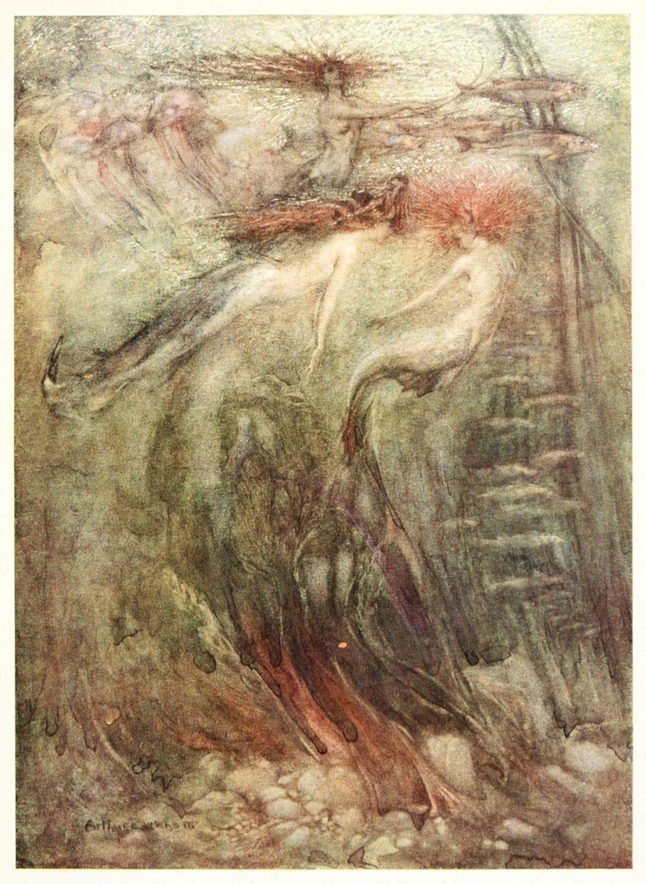 Arthur Rackham ~ Mermaids in Sunlight ~ Imagina ~ 1914 ~ via
