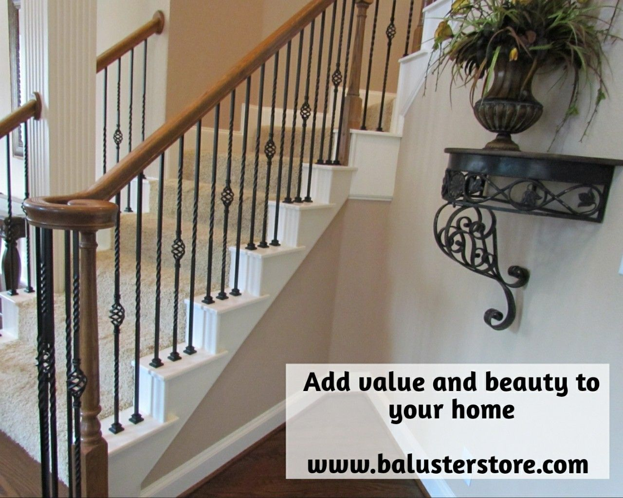 Title Iron Stair Spindles Made Of Wrought Iron Often Give A