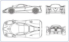 Image Result For Free Sports Car Blueprints With Images