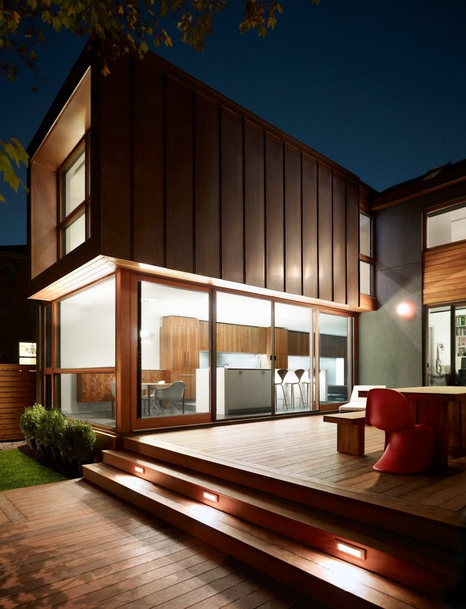 Post War House Converted Into Modern Residence In Canada House Architecture Modern Exterior