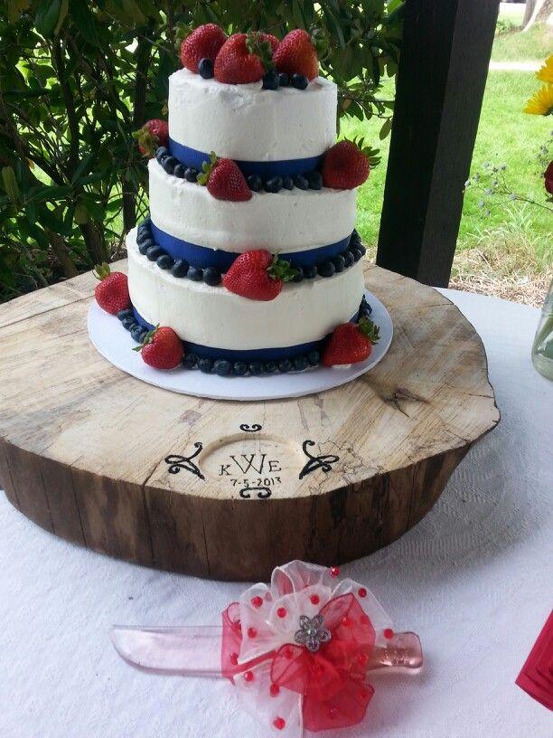 Red White And Blue Wedding Cake Cakes I Ve Made Pinterest