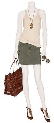 J brand cargo skirt