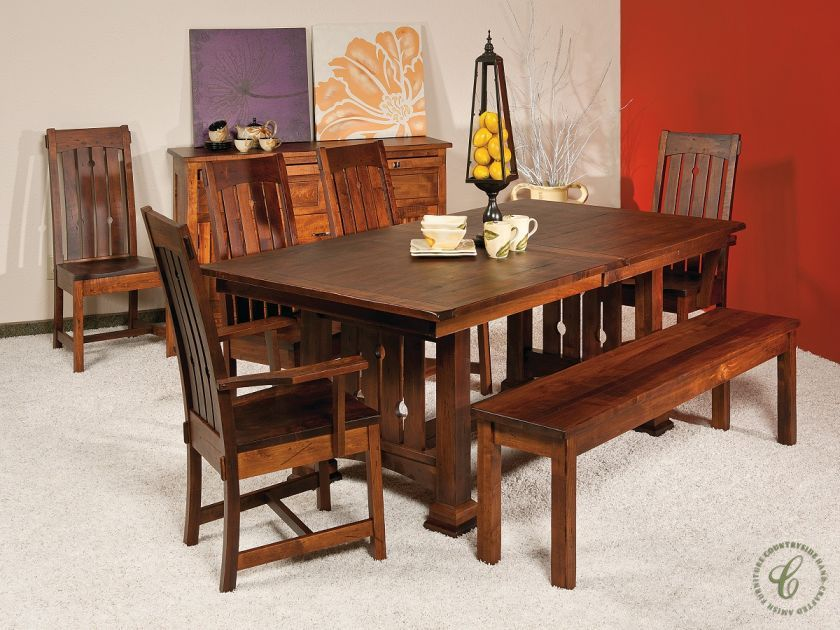 Our Eagle Creek Mission Dining Set Features Something For Every