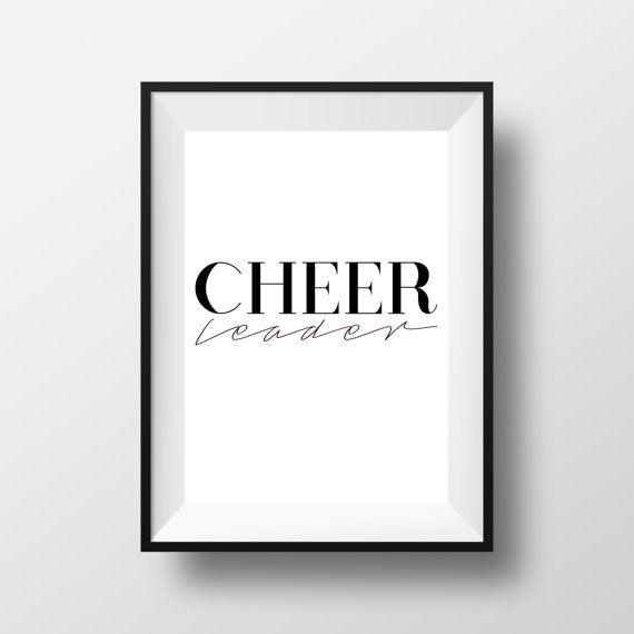 CHEER Leader Art Print Digital Download by CheerLoveCo on Etsy
