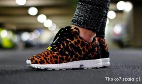 Sportowe Obuwie Damskie W Szafa Pl Buty Sportowe I Do Biegania Adidas Zx Flux Leopard Adidas Zx Flux Adidas Zx