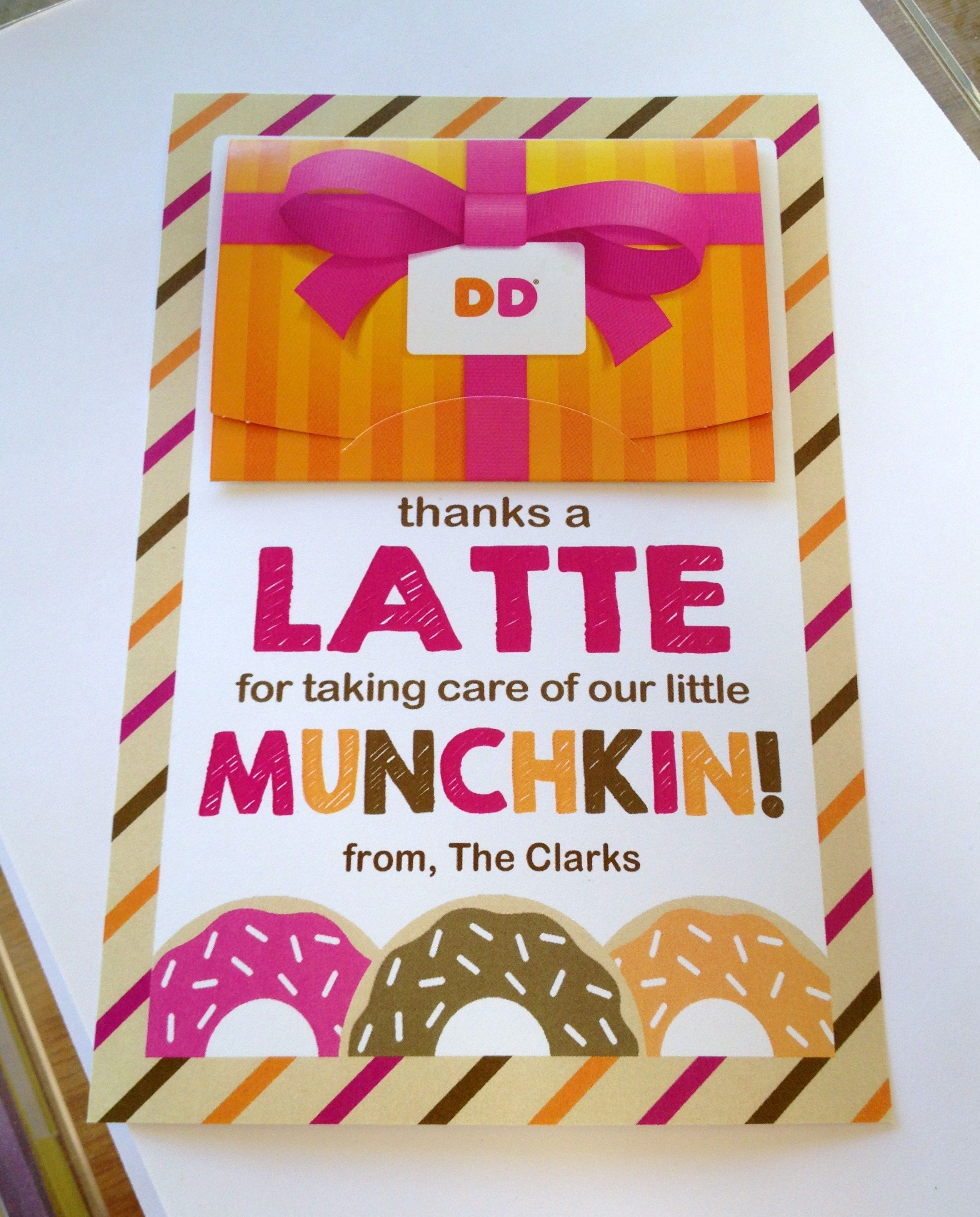 thanks a latte for taking care of our munchkin teacher gift tag