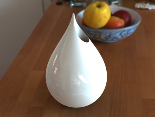Droplet Vase by vsc89 Thingiverse 3d printing, 3d
