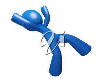 Iclipart Com Royalty Free Clipart Image Of A Blue Man Falling Projecten Projecten Om Te Proberen
