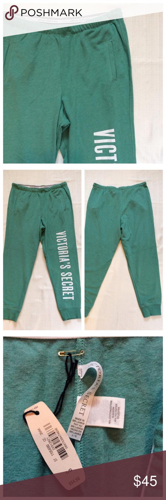 VS Green Lounge Pants NWT loungewear. Excellent unworn condition. Victoria's Secret Pants