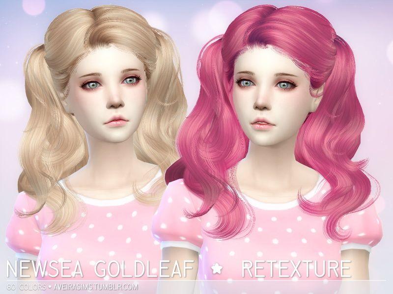 Aveira Sims 4: Newsea`s Goldleaf hairstyle retextured ...
