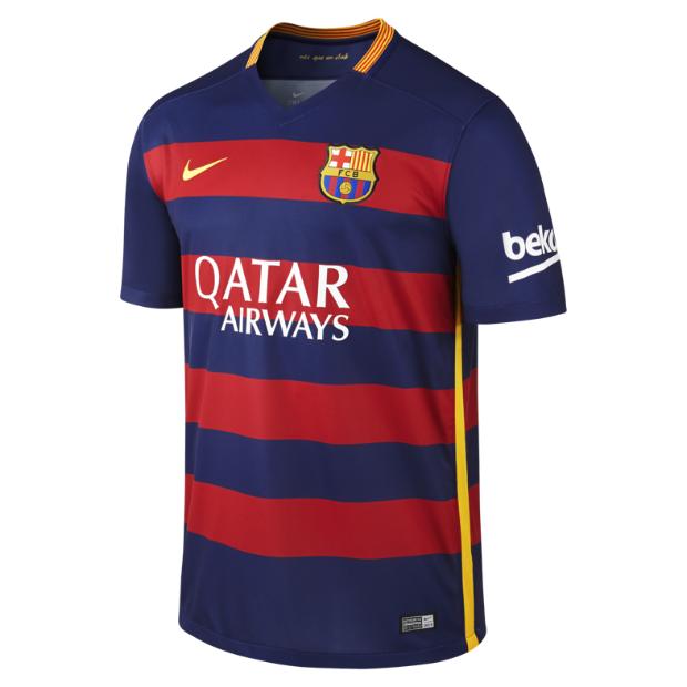 FC Barcelona Stadium Home Men's Soccer Jersey.