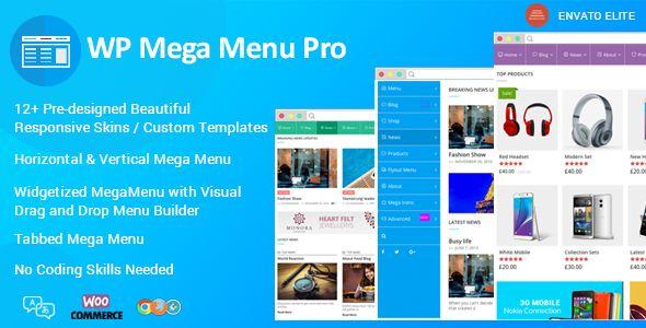 WP Mega Menu Pro v2.0.2 Responsive Mega Menu Plugin Blogger Template ...