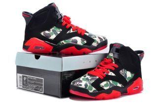 brand new 0ba09 8b066 Air Jordan VI 6 Retro Womens Shoes Camo Black Green Red HOT ( 58.99) More