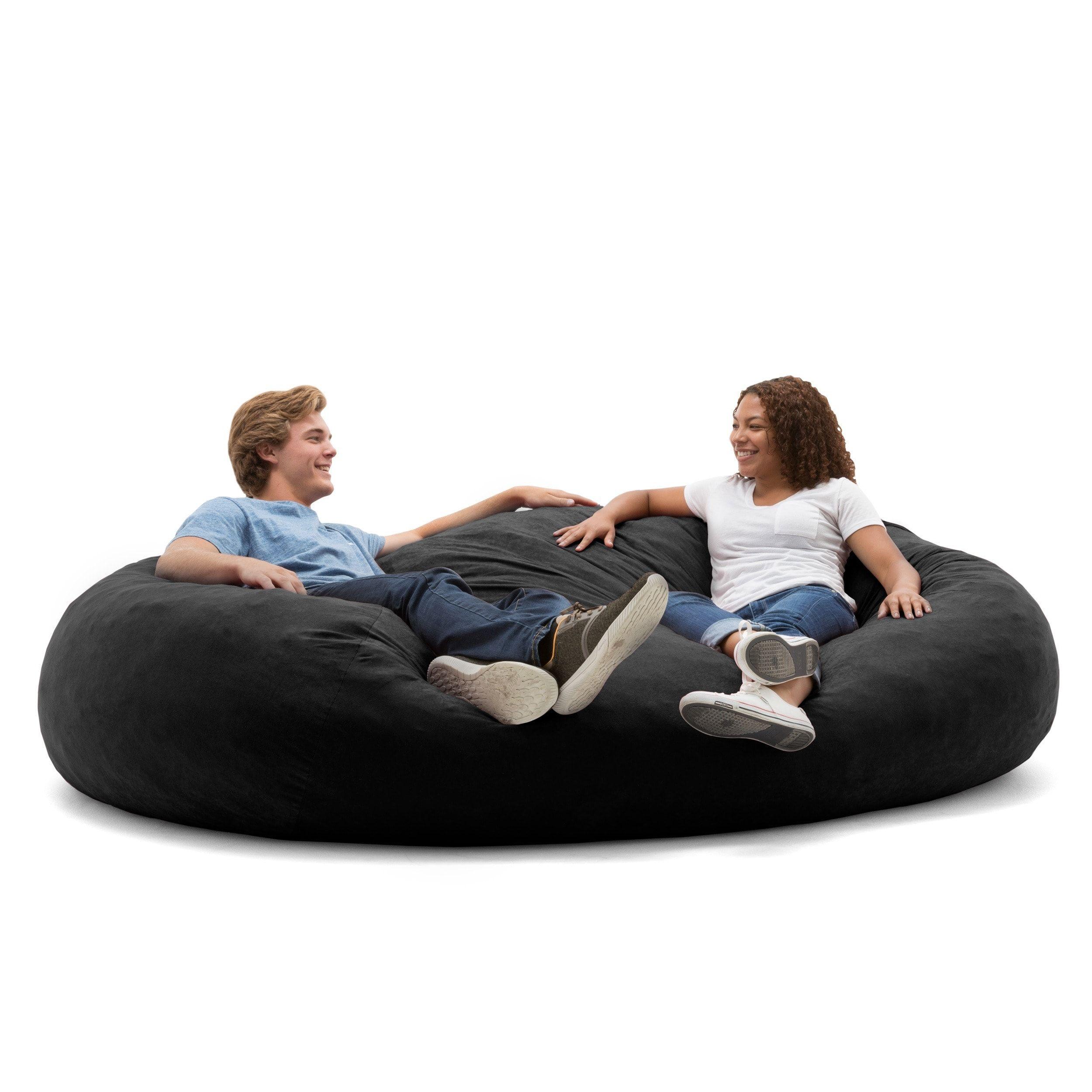 xxl fuf chair swimming pool lounge chairs big joe black onyx size extra large foam