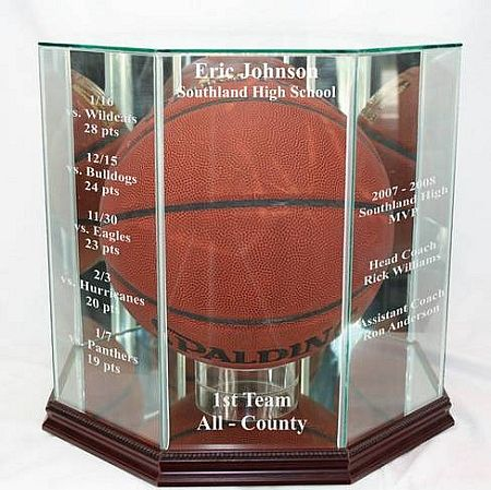 Marvelous Glass Basketball Display Case | Personalized Basketball Display Holder |  Engraved · Display CasesSports Memorabilia ... Good Looking