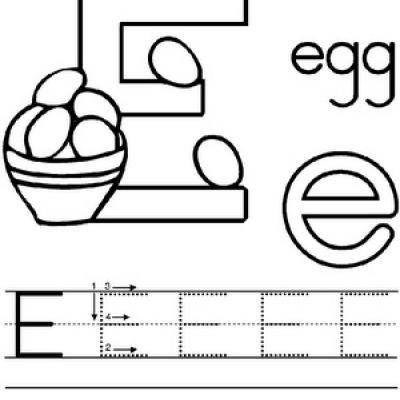 Free Printable Kindergarten Alphabet Worksheets | E is for ...