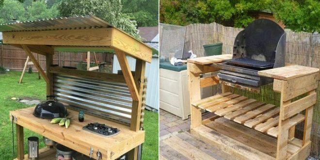 comment cr er un barbecue avec des palettes grill. Black Bedroom Furniture Sets. Home Design Ideas
