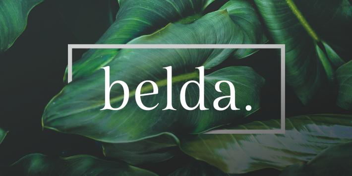 Plantilla para descargar tipografia Belda