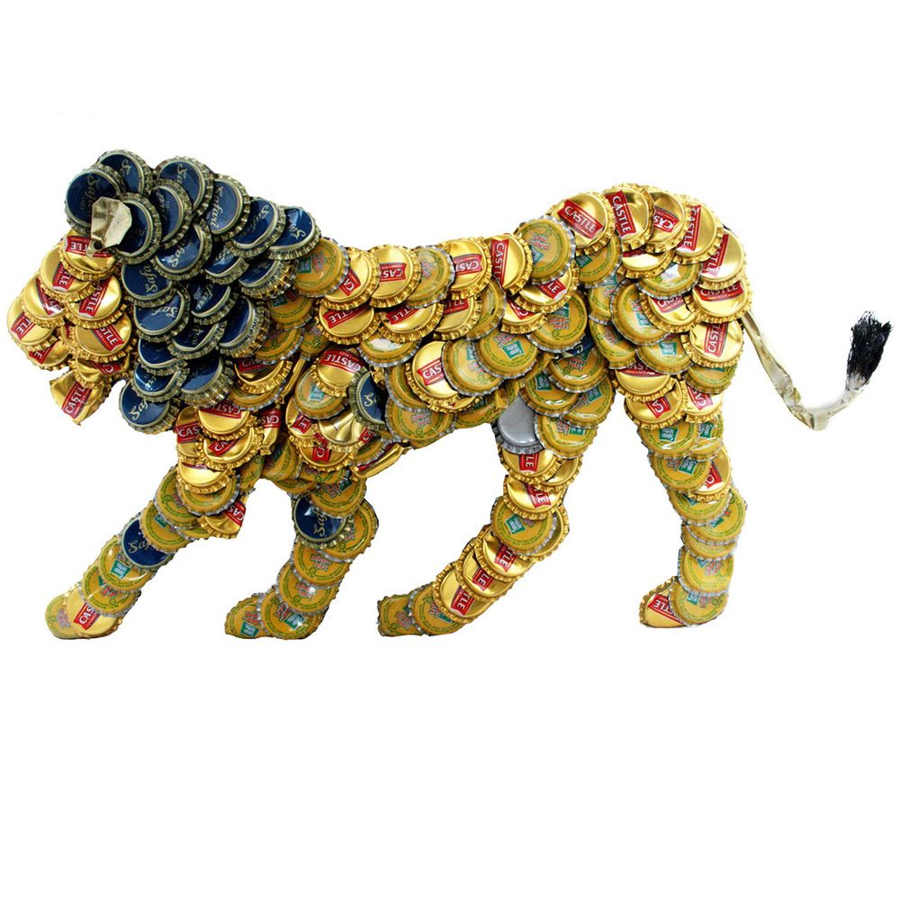 Bottle Cap Lion Wall Plaque (Kenya) | Overstock.com Shopping - Top ...
