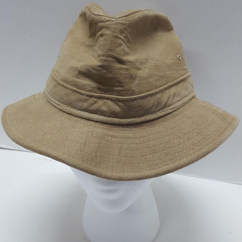 Hatquarters USA by Henschel Size Medium Beige Fedora Hat Made in USA   HatquartersUSAHenschel  Fedora 41b29ac5b2c5