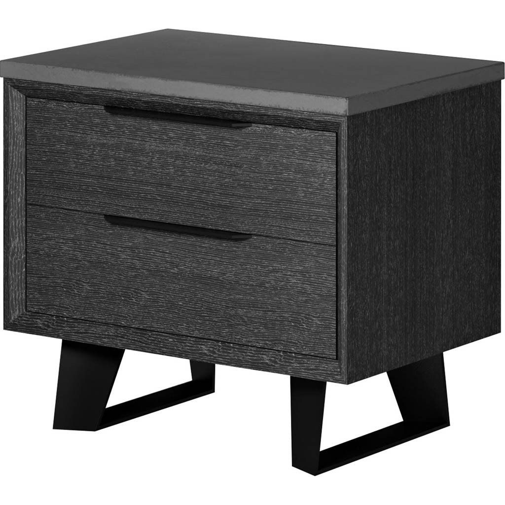 Best Amsterdam Nightstand Concrete Gray Oak Products 640 x 480