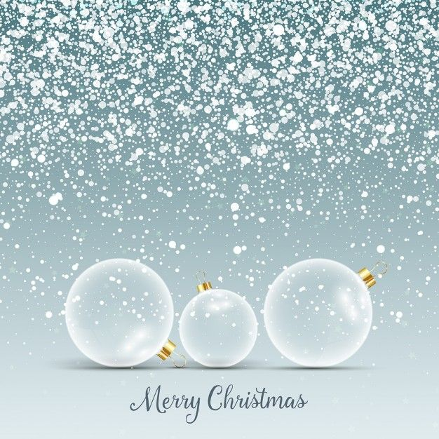 christmas background with glass baubles in snow 1048 3824