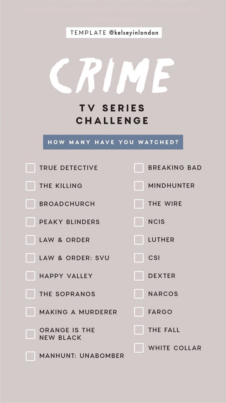 Crime TV Series Instagram Story Template by
