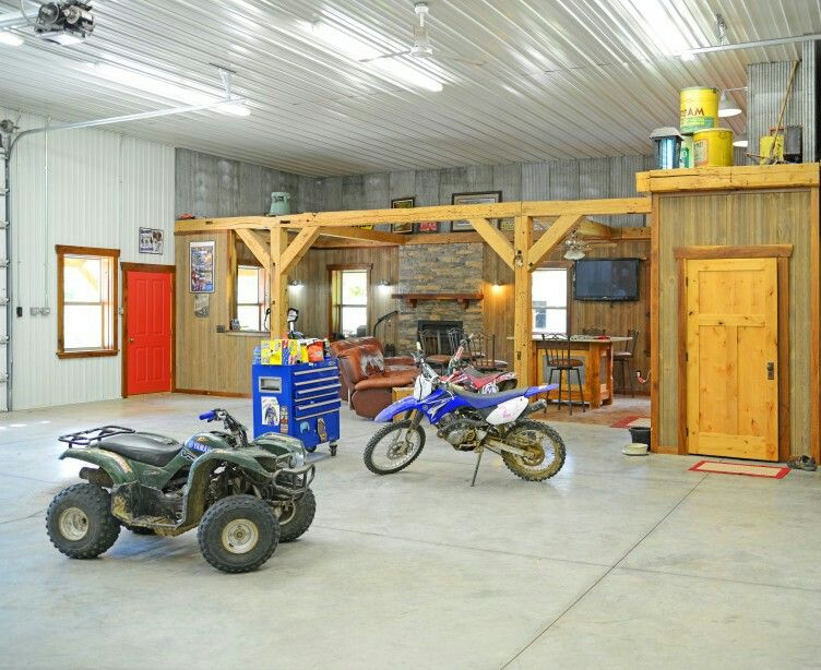 Finished Area Garage Shops Amp Sheds Pole Barn Garage