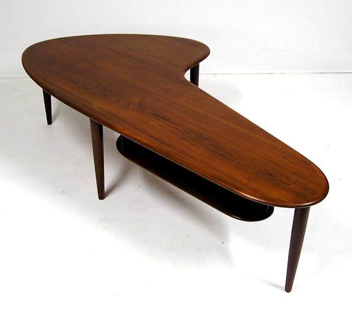 Teak boomerang coffee table mid century modern classic for Mobilia anos 50
