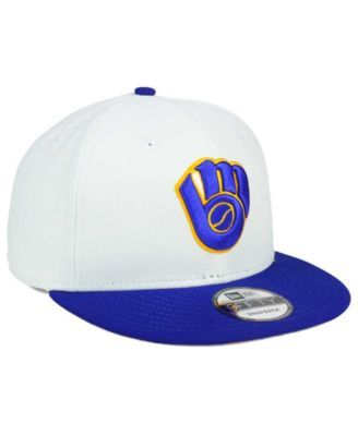 reputable site 67dd0 a78ca New Era Milwaukee Brewers All Shades 9FIFTY Snapback Cap - White Adjustable