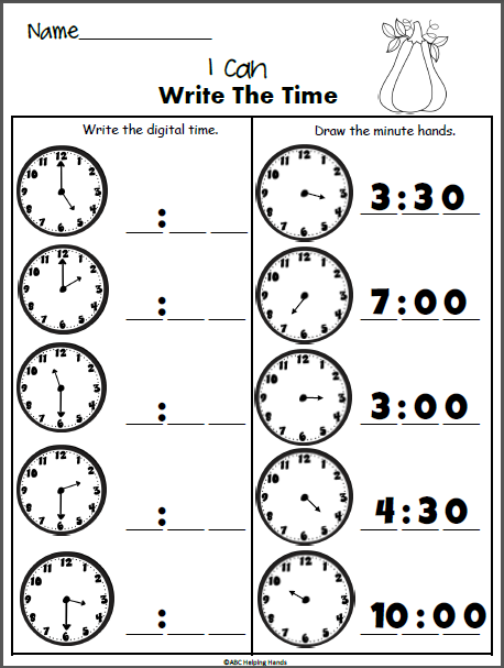 Free Fall Time Worksheet First Grade Worksheets 1st Grade