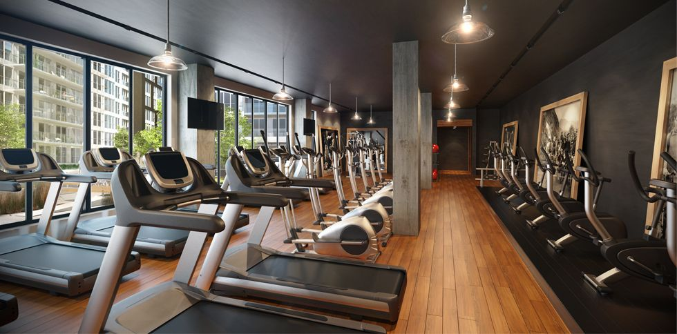 Fitness Centre At A Condo Gym Room Gym Design Design