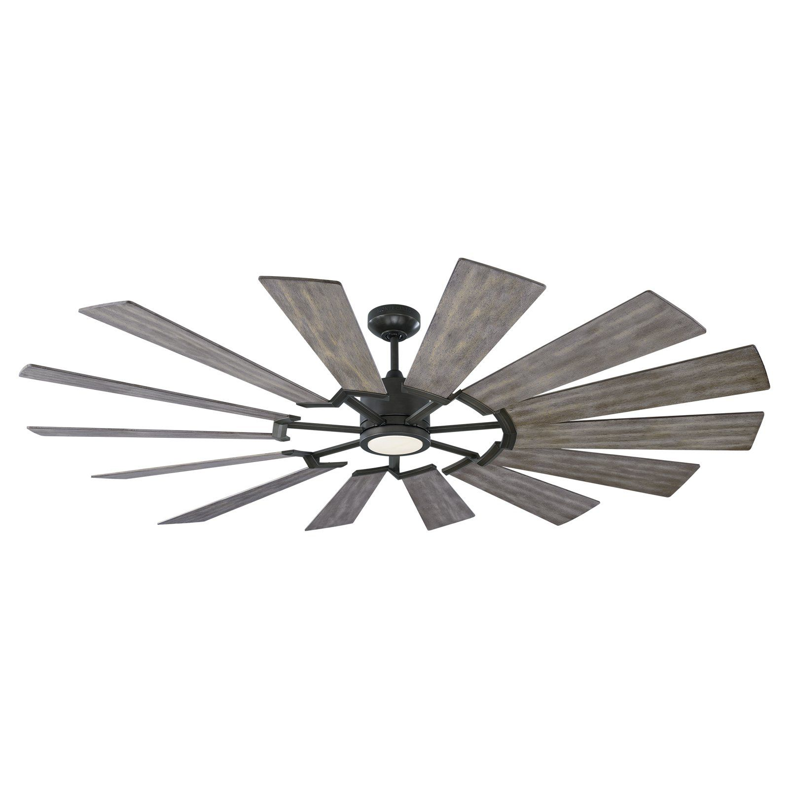 Monte Carlo Prairie Led 72 In Indoor Ceiling Fan With Light