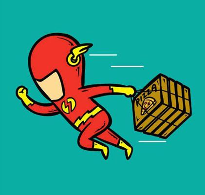 Flash as your pizza delivery guy!