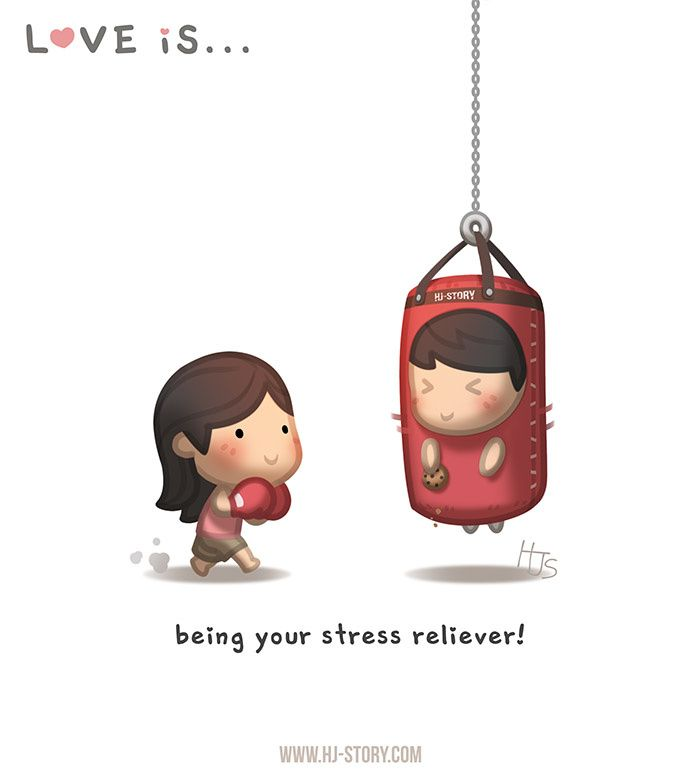 ...Ser seu aliviador de stress.