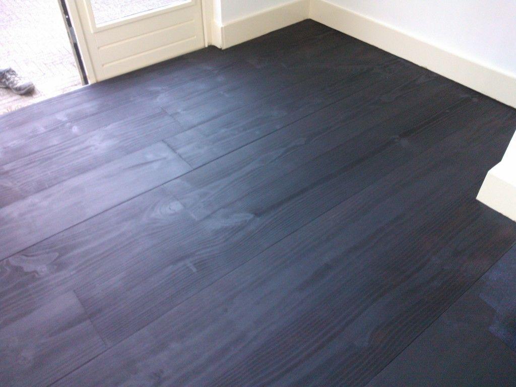 grenen plankenvloer met wenge beits woonkamer pinterest
