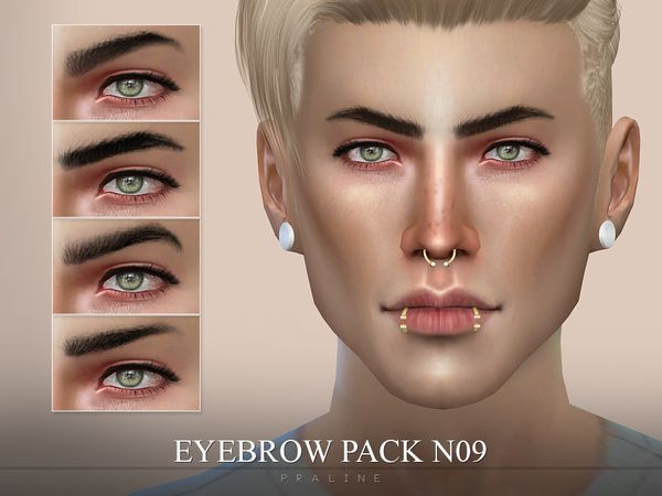 Pralinesims Eyebrow Pack N09 Sims 4 Characters Sims 4 Cc
