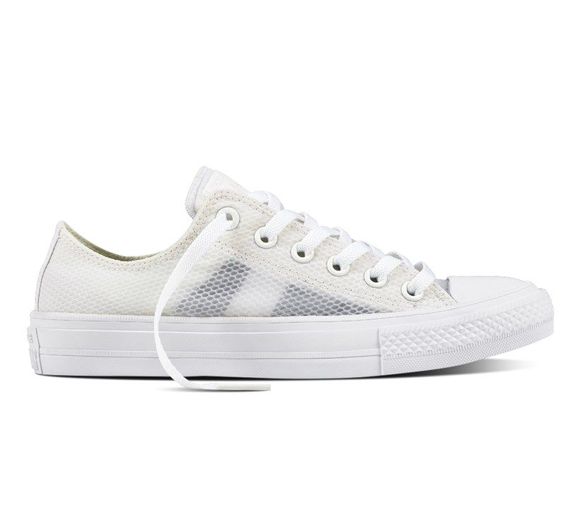 Shoes Outlet - Converse CT AS 2 Ox Sheen Mesh Yellow Women's Low Top Trainers