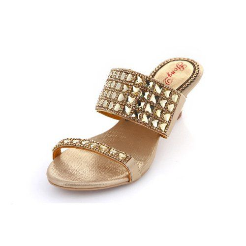 Abby Mnst010 Womens Noble Comfort Wedding Party Bride Unique Leather Low Heel Sandals Gold Us Size 11 Silver High Heel Sandals Sandals Heels Casual Shoes Women