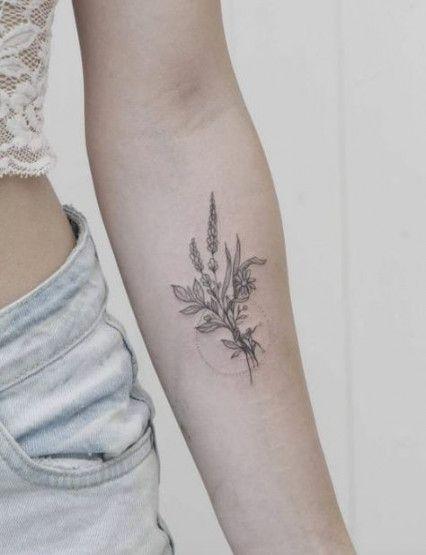 36+ Trendy Flowers Boquette Tattoo Tat