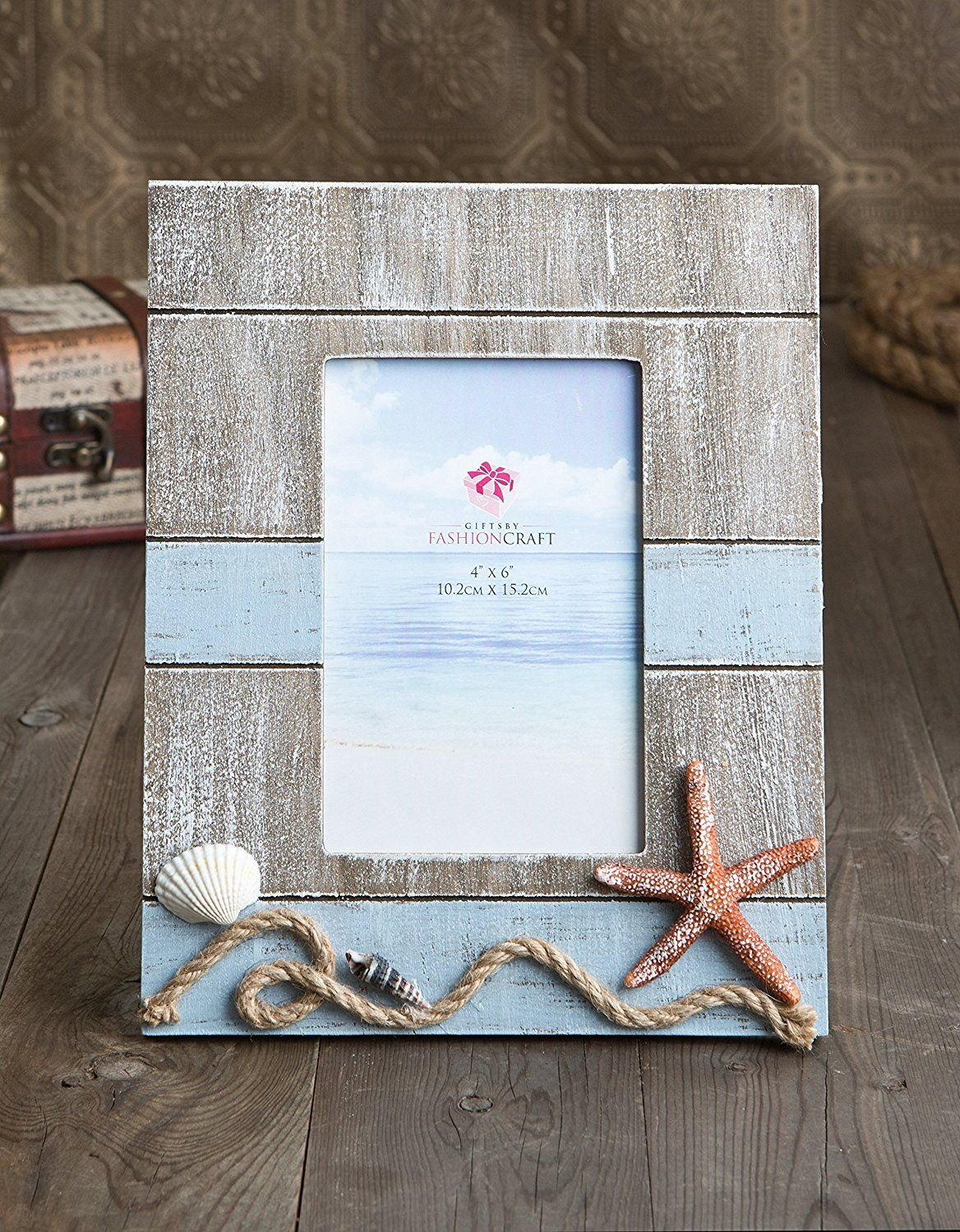 Fashioncraft Lovely Beach Themed Frame With Star Fish And Rope