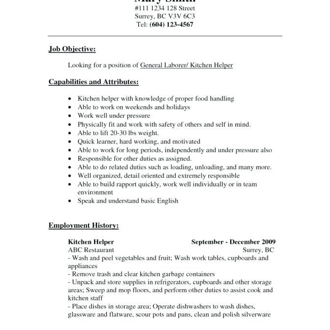 Sample Resume For Cook Position For Kitchen Manager  Resume Templates  Pinterest  Resume Examples .