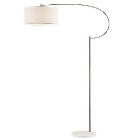 Oversized Satin Nickel Arc Floor Lamp Arc Floor Lamps
