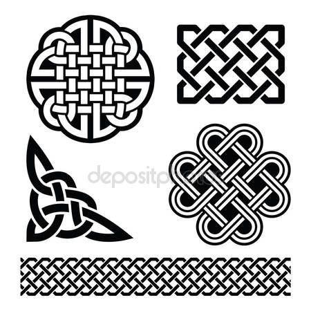 Celtic Knot, örgüler ve desenler - St Patrick\'ın gün İrlanda — Stok ...