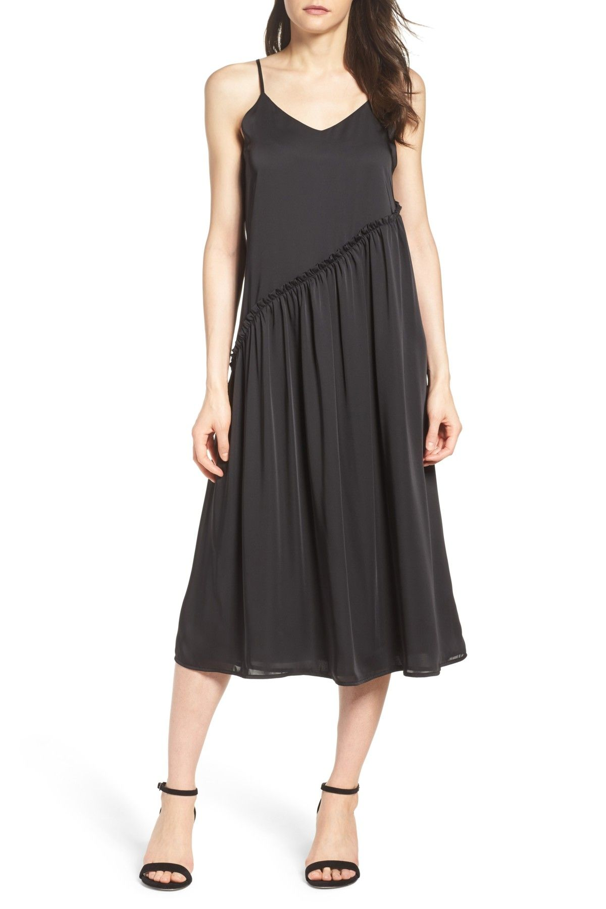 Nordstrom dresses wedding guest  Ruffle Midi Slipdress  Ruffles and Products
