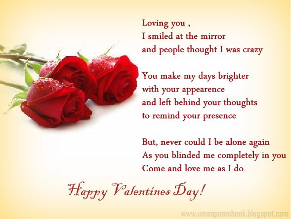 Valentines Day Poems Of Wishes ballyballycom Romantic