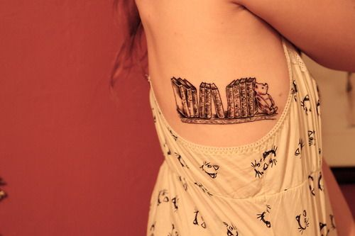 Winnie The Pooh And Bookshelf Tattoo On Ribs Is Sweet As Shit But I Would Need A Tigger Too 3 For My Childhood Memories