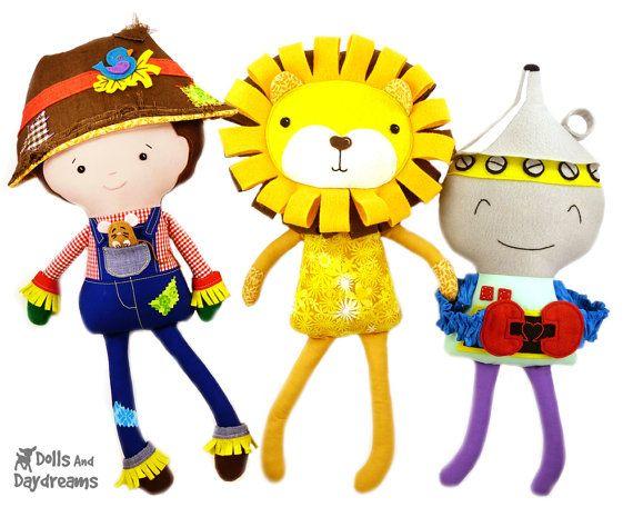 Wizard Of Oz Sewing Pattern Pdf Diy E Book By Dollsanddaydreams 32 99 Dolls And Daydreams Scarecrow Doll Wizard Of Oz