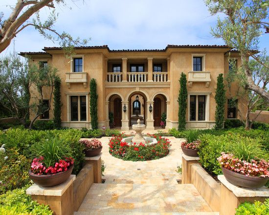 Mediterranean Exterior Craftsman Style Design Pictures Remodel Decor And Ideas Page House Architecture Styles Mediterranean Style Homes Tuscan Style Homes