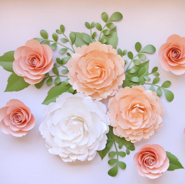 Look At These Gorgeous Paper Roses By Fancybloom Using Our Paper